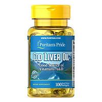Thực Phẩm Chức Năng - Dầu Gan Cá Tuyết Giúp Sáng Mắt Puritan'S Pride Cod Liver Oil (100 Viên)