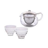 Bộ bình trà thủy tinh Hario ( 1 bình trà + 2 tách trà )