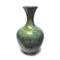 Bình hút tài lộc - Lộc bình gốm sơn mài Bát Tràng, Nền sơn mài, tráng bạc tinh tế, hiện đại và đẳng cấp