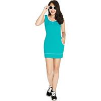 Đầm nữ Narsis NWS1202 màu xanh trẻ trung, chất liệu Cotton cao cấp cực mềm mại thông thoáng, co giãn tốt, sản phẩm được sản xuất tại Việt Nam bởi thương hiệu thời trang nổi tiếng NARSIS