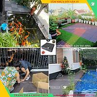 COMBO 22 Vỉ lót sàn nhựa nguyên khối 3T-450, Tấm nhựa trải sàn trang trí ban công / sân vườn / sân thượng; lót sàn chống trơn trượt nhà tắm / bể bơi - siêu bền