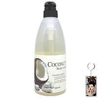 Sữa tắm tinh chất dừa Welcos Coconut Body Cleanser Hàn Quốc 740g + Móc khóa