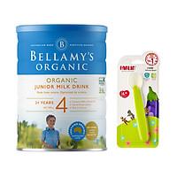 Sữa bột Bellamys Organic số 4 900g tặng thìa ăn dặm silicon Farlin