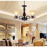 Đèn chùm LELO phong cách cổ điển trang trí nội thất (Loại 3 bóng)