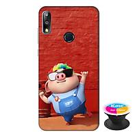 Ốp lưng điện thoại Asus Zenfone Max Pro M2 hình Heo Con Sành Điệu tặng kèm giá đỡ điện thoại iCase xinh xắn - Hàng chính hãng