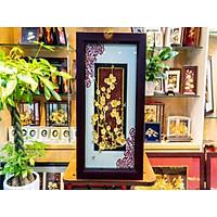 Tranh hoa mai mạ vàng (39x69cm) MT Gold Art- Hàng chính hãng, trang trí nhà cửa, phòng làm việc, quà tặng Tết ý nghĩa, quà tặng sếp, đối tác, khách hàng, tân gia, khai trương