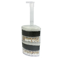 Lọc sủi vi sinh cao cấp, lọc để góc bể cá 2 tầng XY-2010