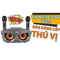 Loa karaoke bluetooth SD 306 Plus - Loa mắt cú nâng cấp của SD 306 - Tặng kèm 2 micro không dây có màn hình LCD - Sạc pin cho micro ngay trên loa - Chỉnh bass treble echo ngay trên micro - Loa xách tay du lịch cực chất - Màu ngẫu nhiên - Hàng chính hãng