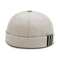 Mũ tròn Miki 3 sọc không vành - Mũ mùa đông kiểu mới
