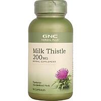 Thực phẩm chức năng Tăng cường chức năng và bảo vệ tế bào gan  GNC MILK THISTLE 200 MG chai 90 viên