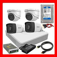 Trọn bộ camera HIKVISION tích hợp mic (4 Camera)- Hàng chính hãng
