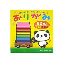 Giấy xếp hình Origami 18 màu, 82 tờ (17.5 x 17.5cm) - Giao Màu Ngẫu Nhiên