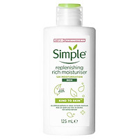Kem dưỡng ẩm cho da khô Simple Replenishing Rich Moisturiser 125ml