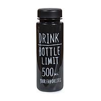 Bình Nhựa Đựng Nước Bottle Drink Limit, Dung Tích 500ml, Nhỏ Gọn Tiện Lợi Màu Đen ANNI