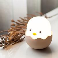 Đèn Ngủ Trứng Gà Con Cảm Ứng Silicon Dẻo Cao Cấp Siêu Dễ Thương