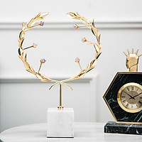 Decor trang trí để bàn - Cành vàng đính đá may mắn