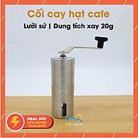 Máy xay bột cafe cầm tay 20g Trắng - Lưỡi xay sứ