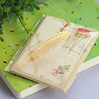 Bookmark kim loại đánh dấu trang sách hình lông vũ