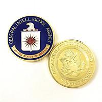 Xu huy hiệu CIA Mỹ, Dùng để làm đồ lưu niệm, sưu tầm, trang trí bàn sách, kích thước 4cm, màu vàng - TMT Collection - SP005332