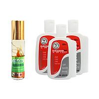 Dầu Thảo Mộc Green Herb Oil  8ml + Bộ 3 dầu nóng xoa bóp Massage Hàn Quốc - Tăng Cường Hệ Miễn Dịch, Cài thiện Ho, Nhức Đầu, Giảm Căng Thẳng, Giúp Thông Mũi, Xoa Bóp Massage thư giãn