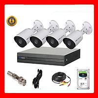 Trọn bộ 4 camera KBVISION Full HD 1080p- Hàng chính hãng