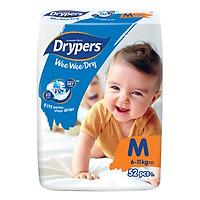 Tã dán trẻ em Drypers Wee Wee Dry M 52 miếng (6 - 11kg)