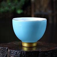 Chén uống trà men ngọc – màu xanh dương
