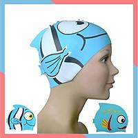 Mũ Bơi Trẻ Em,Nón Bơi Cho Bé Hình Cá 100% Silicon Co Giãn,Mềm Mại Thoải Mái Đại Nam Sport