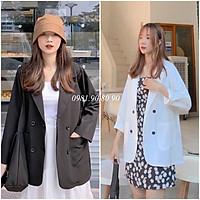 Áo khoác vest blazer nữ 2 túi dán phong cách hàn quốc sang chảnh chất cao cấp