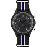 Đồng Hồ Dây Vải Nam Timex MK1 Supernova Chronograph 42mm Leather Strap Watch - TW2T29700