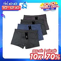 Combo 4 Quần sịp nam, quần boxer nam chất cotton thun cao cấp ZBra - ZQN16 (Màu ngẫu nhiên)