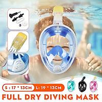 Anti-Fog Full Face Swimming Breath Dry Diving Snorkel Scuba Adult Kids