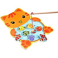 Bộ câu cá gỗ nam châm hình Ếch, Mèo
