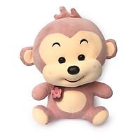 Thú nhồi bông khỉ hồng đeo khăn mền mịn dành cho bé