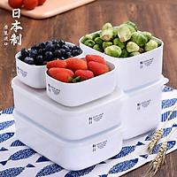 Hộp đựng & bảo quản thực phẩm cao cấp Nhật Bản White Pack 800ml ( hình chữ nhật ) thích hợp dùng trong lò vi sóng