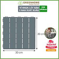 Vỉ Nhựa Lót Sàn 5 Nan Cao Cấp Hàng VNXK - Màu Xám