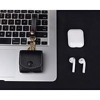 Bao case da chống sốc cho tai nghe Apple Airpods 1 / 2 hiệu i-Smile Leather 2 - Hàng nhập khẩu