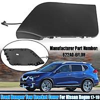 Front Bumper Tow Bracket Cover Cap For Nissan Rogue 2017-18 Black #622A0-6FL0H