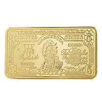 Commemorative Coin Bullion Bar Modern 5 24K Gold-Plated Art Collection Gifts Movie