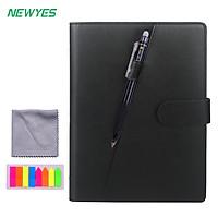 Sổ tay thông minh NEWYES bìa da cao cấp cỡ A5 có thể xóa bằng nhiệt, ẩm, tẩy tặng kèm bút thông minh tẩy được