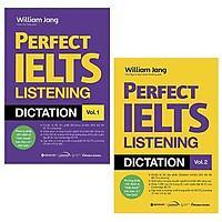 Sách - (Combo 2 cuốn) - Perfect IELTS Listening Dictation Vol.1 + Vol.2