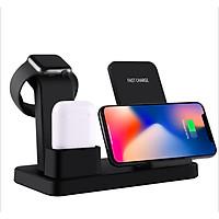 Đế Sạc Nhanh Không Dây 3 Trong 1 Cho Iphone, Samsung, Apple Watch, Airpods Zomy - Hàng chính hãng