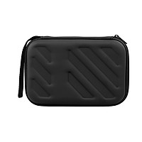 External Hard Drive Disk Case Shockproof EVA Case 2.5in HDD with Mesh Pocket and Soft Inner Fabric Carrying Case (Black)