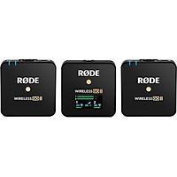 Rode Wireless GO II - Micro Thu Âm Không Dây Cao Cấp Cho Máy Ảnh, Tự Động Lưu Bản Ghi, Hoạt Động 7 Giờ (2 phát 1 thu) - Hàng nhập khẩu