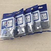 [Combo 5 cuộn] Nhãn TZ2-FX221 siêu dẻo - Chữ đen trên nền trắng 9mm - Hàng nhập khẩu