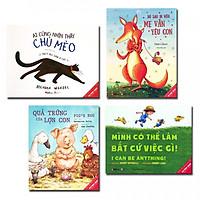 Combo Picture Book Song Ngữ: Dù Sao Đi Nữa Mẹ Vẫn Yêu Con + Quả Trứng Của Lợn Con + Mình Có Thể Làm Bất Cứ Việc Gì + Ai Cũng Nhìn Thấy Chú Mèo (Bộ 4 cuốn truyện cho bé) - Tặng kèm bút chì Xì Teen