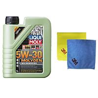 Dầu nhớt tổng hợp xe ga Molygen Liqui Moly 1L 5W30 - Tặng kèm 1 khăn lau chuyên dụng 3M