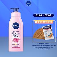 Sữa Dưỡng Thể Dưỡng Trắng NIVEA Hương Hoa Hồng Radiant Rose (350ml) - 85707