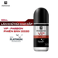 Lăn khử mùi cao cấp Romano Vip Passion mạnh mẽ bí ẩn 50ml