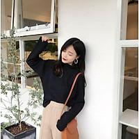 (Có sẵn)Áo len cổ cao Hồng kông hương vị retro
